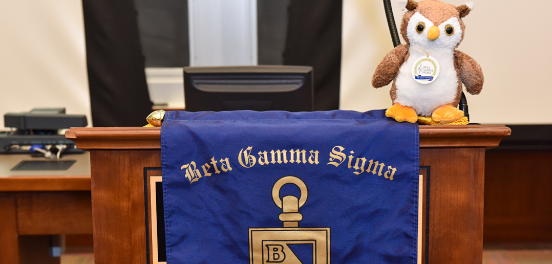 Beta Gamma Sigma podium
