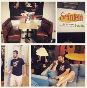 BCD Storms the Seinfeld Set