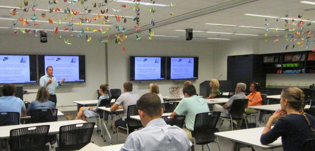 John Torrens teaching members of the surviving families of 9/11.