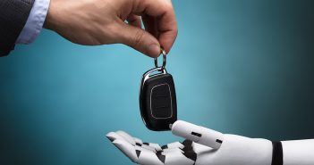 Robot hands taking the key
