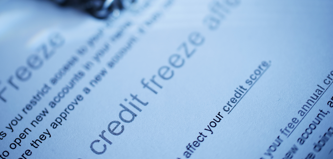 Credit report freeze paperwork