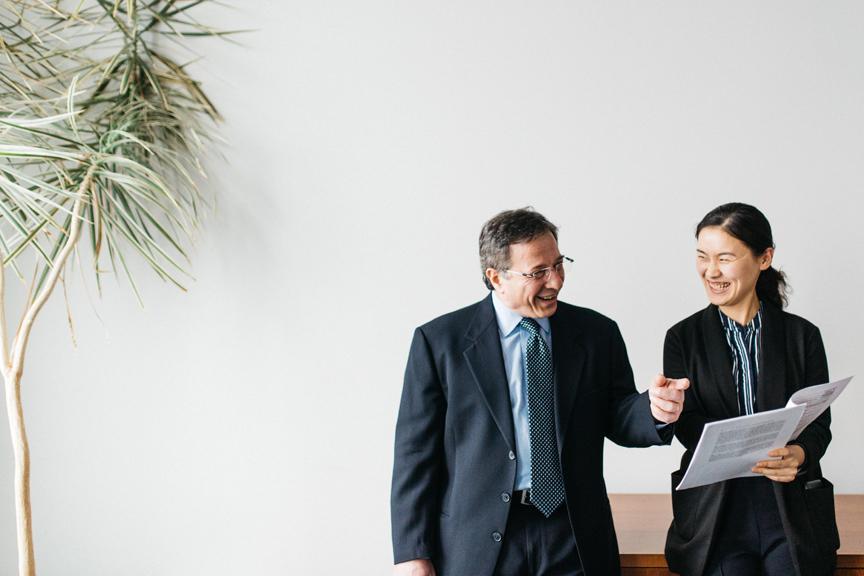 Michel Benaroch and student