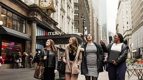 Students at Macy's in New York City