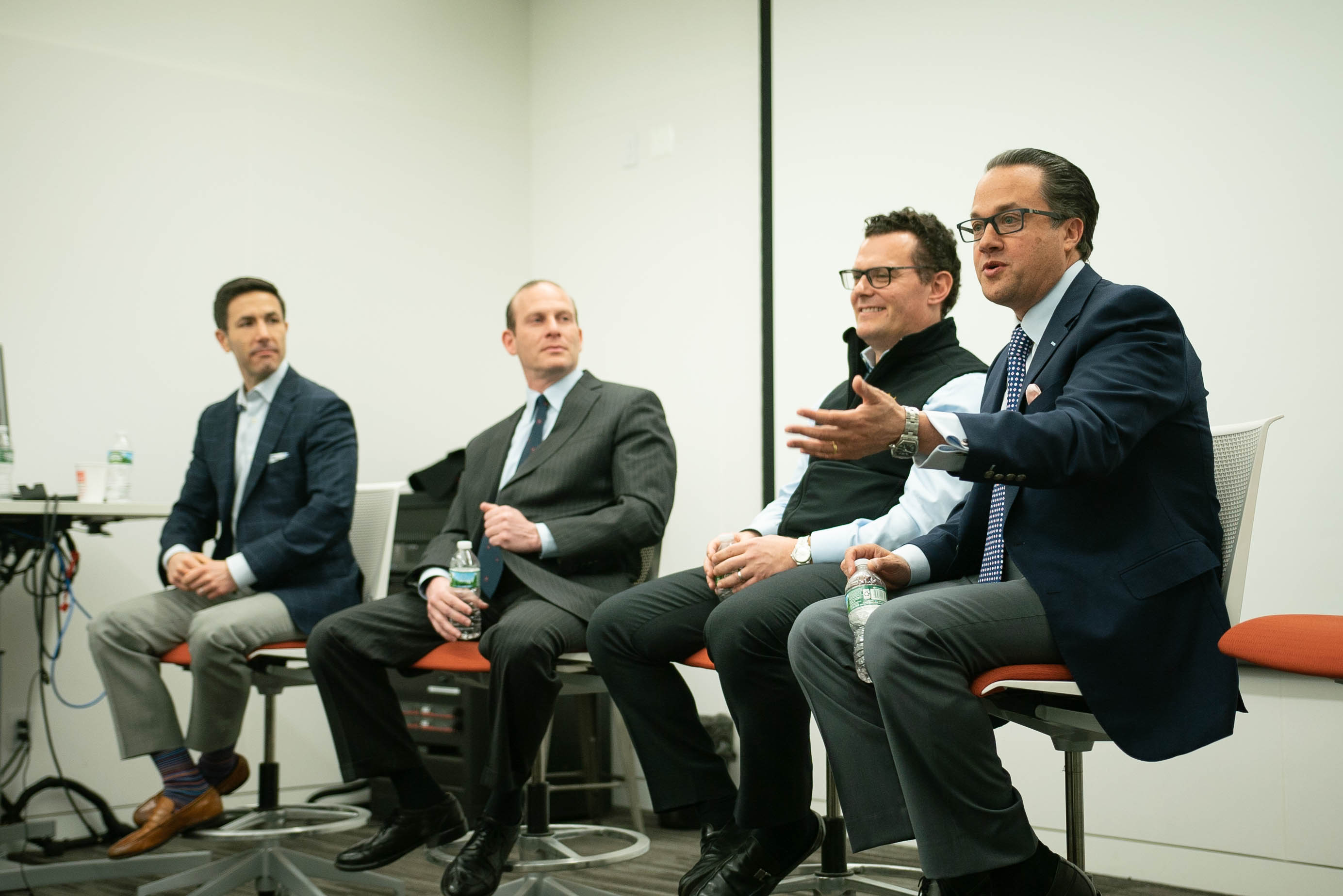 Alumni participate in a panel discussion
