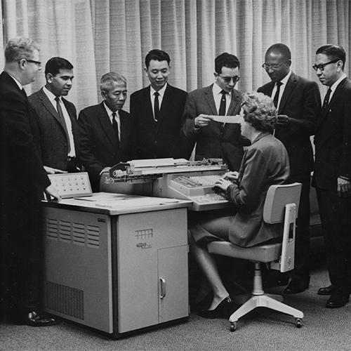 accountants from nepalIndonesia china jordan sudan korea observe accounting machines in 1948