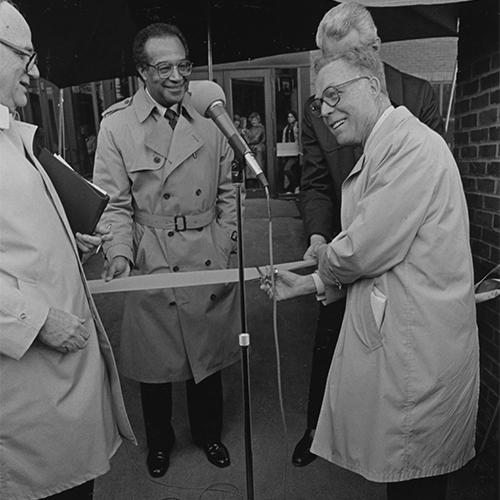 dedication ceremony for crouse hinds with oliker witting in 1983