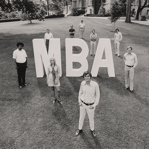 mba sign in 1970-72