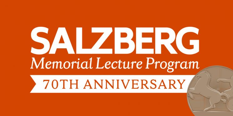 graphic that reads Salzberg Memorial Lecture Program 70th anniversary