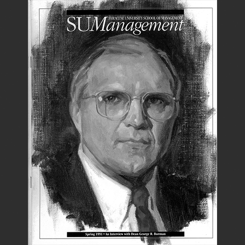 Cover of the Spring 1991 SU Management Magazine