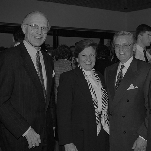 George Burman poses with Michael Falcone and his wife