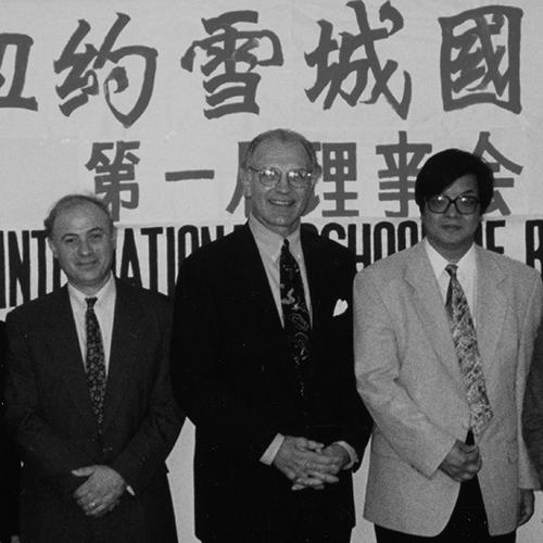 Peter Koveos and George Burman in Shanghai