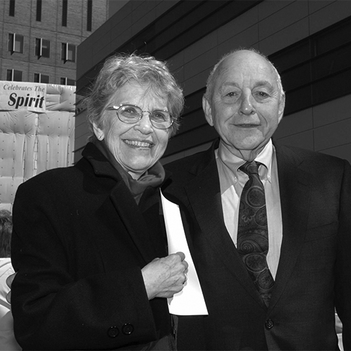 Lois and Martin J. Whitman during the dedication ceremony