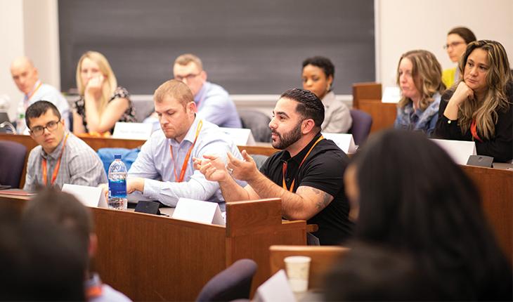 students at Syracuse University residency