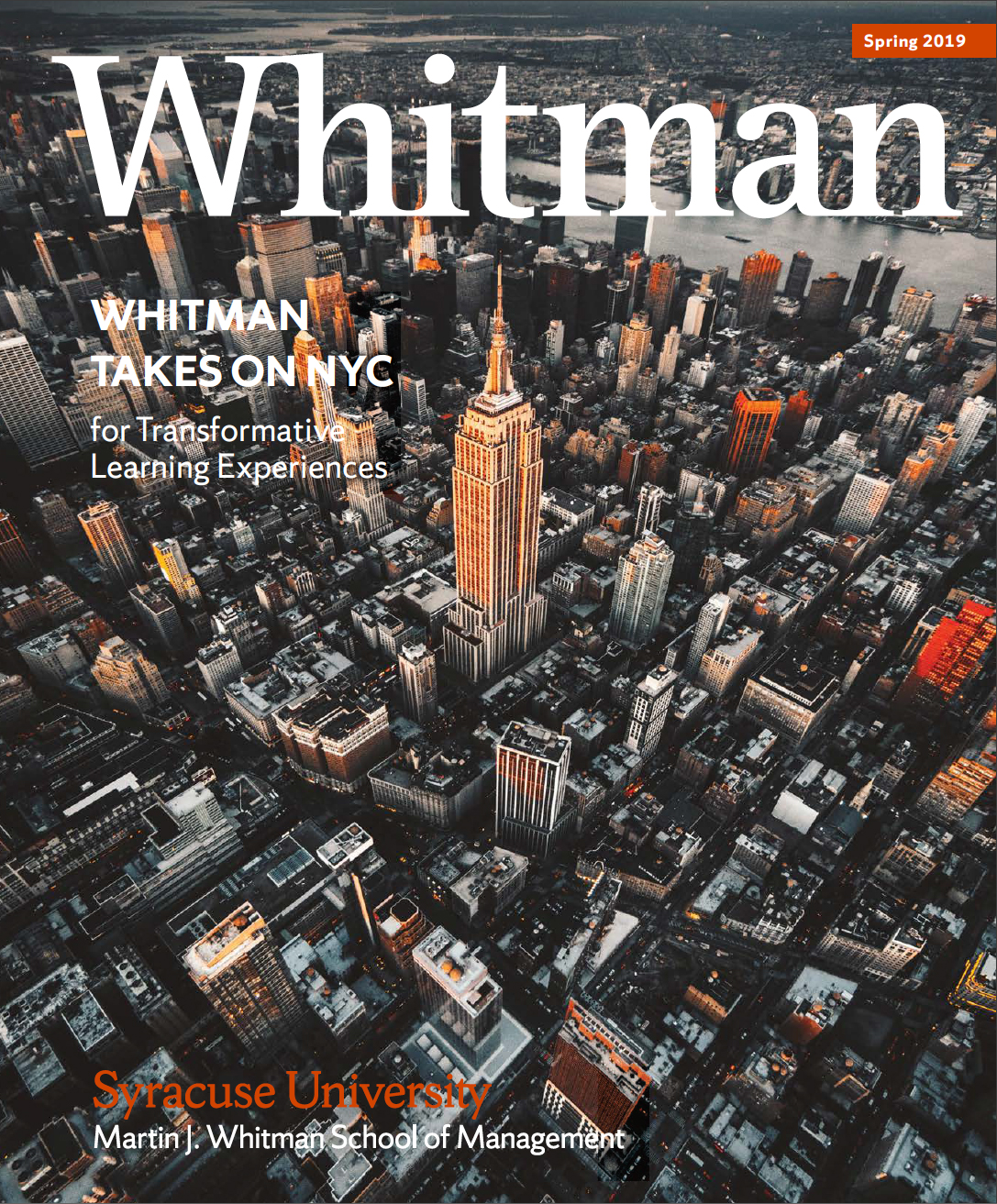 Spring 2019 Whitman Magazine Cover