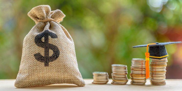money and academic cap