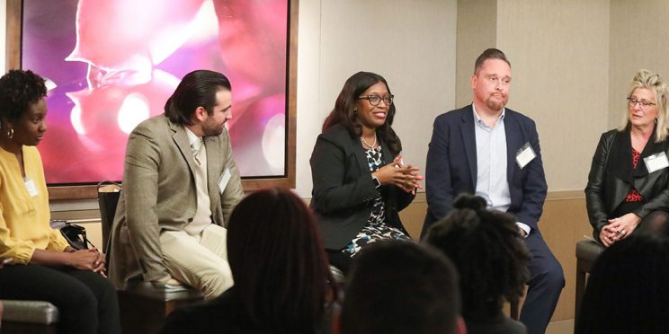 photo of diversity and inclusion panel speaking in NYC