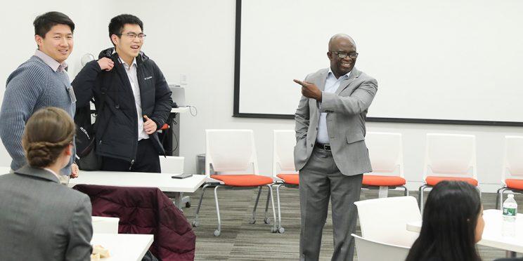 Kofi Appiah Okyere teaching a class at the Fisher Center in NYC