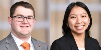 headshots of Ryan Houck and Kristen Wong