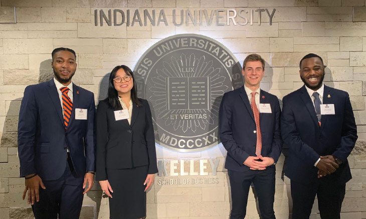 Team of Whitman students at Indiana University