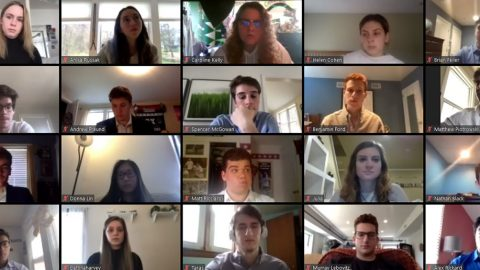 screenshot of a Zoom conference with multiple graduate students
