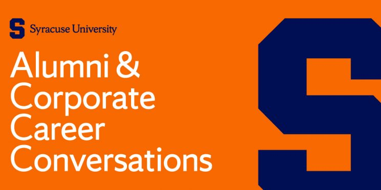 Text Reads: Alumni and Corporate Career Conversations