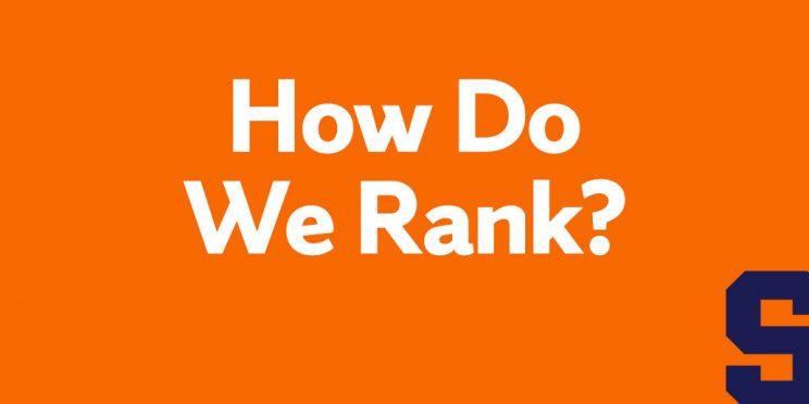 how do we rank