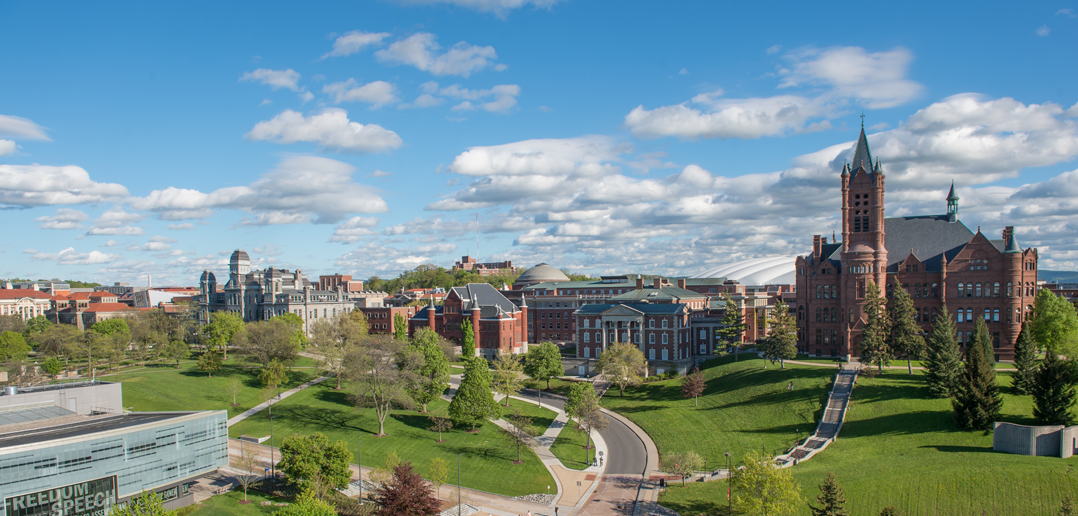 landscape photo of the Syracuse University campus
