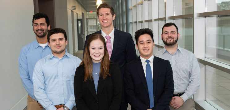 students who participated in the fall 2019 D'Aniello Entrepreneurial Internship Program