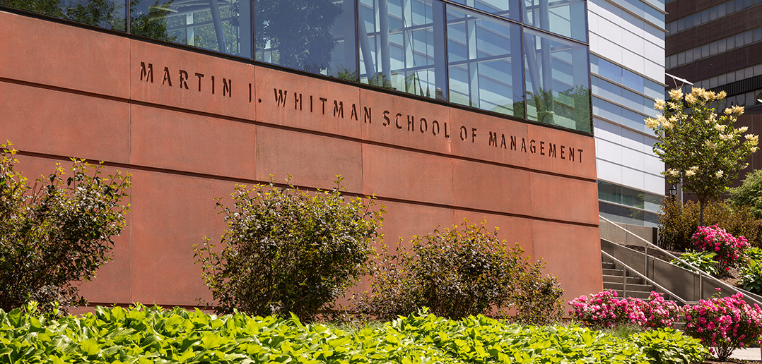 outside of the Whitman School of Management building