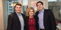 Matthew Palermo, professor MaryAnn Monforte and Dan Griffin posing for a photo together